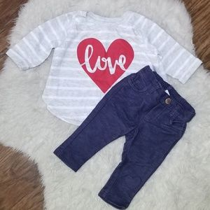 OLD NAVY Baby Girl LOVE Outfut
